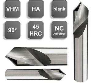 VHM NC Anbohrer, 90°, Z=2 Ø 1/ 2/ 3/ 4/ 5 /6 / 10/ 12/ 14/ 16/ 18/ 20 mm NEU