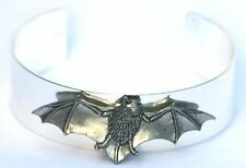 Bat Wings Batman Pewter Motif Silver Plated Bangle Wildlife Present Gift Boxed