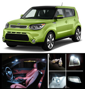 2013 2015 kia soul premium white led interior package 9 pieces ebay. Black Bedroom Furniture Sets. Home Design Ideas
