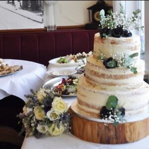 16 40cm rustic log slice wooden wedding cake stand without bark rh ebay co uk gold cake stand centerpiece gold cake stand centerpiece