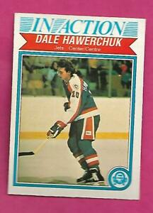 1982-83-OPC-381-JETS-DALE-HAWERCHUK-IN-ACTION-ROOKIE-EX-MTCARD-INV-C2566