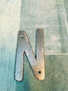 Southwest-Forge-Door-House-Letter-Hand-Forge-N-6-034-Antique-hammered-Copper-N