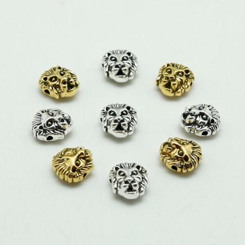 Lion en Alliage Perles Dreadlock Spacer Collier Bracelet Pendentifs Bijoux-HD019