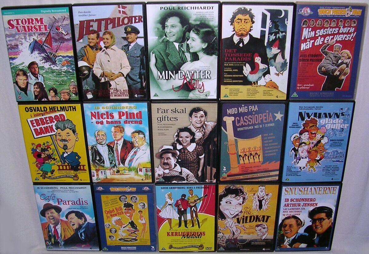 Gode Gamle Danske Film, DVD, - dba.dk - Køb og Salg af Nyt