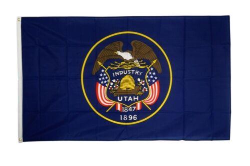 Fahne USA Utah Flagge amerikanische Hissflagge 90x150cm
