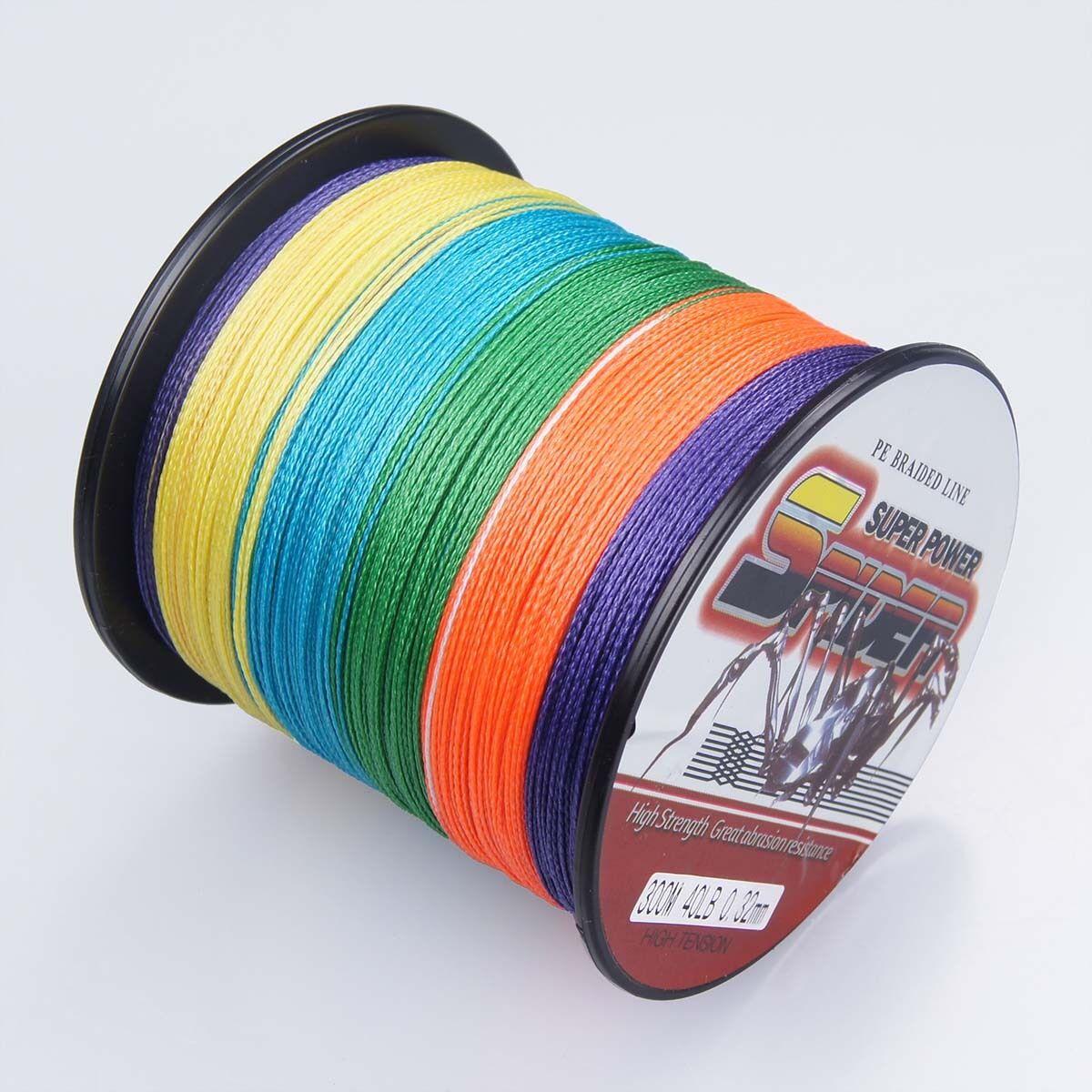 Spider Braid 100m-2000m 10LB300LB 5colors Braided Fishing line Multifilament
