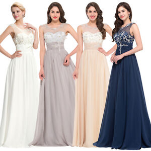Formal Wedding Bridesmaid Prom Party Evening Gown Cocktail Pageant Long Dresses*