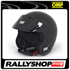 NEW Open Helmet OMP STAR BLACK MAT size L 59 cm Rally Race LIMITED EDITION
