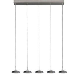 LED-Pendelleuchte-5-flammig-Esstisch-Haengelleuchte-Esszimmer-Lampe-Chrom-Kano