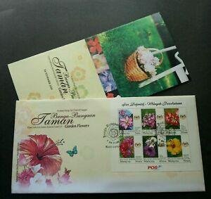 SJ-Garden-Flowers-Malaysia-2009-Flora-Plant-miniature-FDC