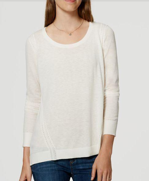 Medium X-Large NWT Ann Taylor LOFT Stitched Tunic Sweater Size Medium Petite