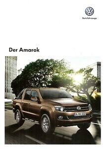 100% Vrai Prospectus/brochure Vw Amarok 01/2013-afficher Le Titre D'origine