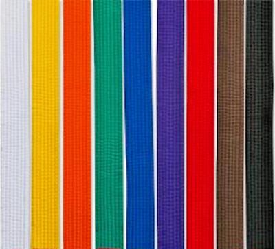 New Martial Arts 1-1//2 Wide Double Wrap Karate Taekwondo Color Belt Black stripe