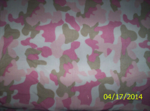 New Pink Mist Camouflage Fleece Fabric by the yard camo