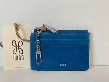 Hobo The Original Kai Mini Wallet Card Holder Key Chain Ring Black Leather NWT