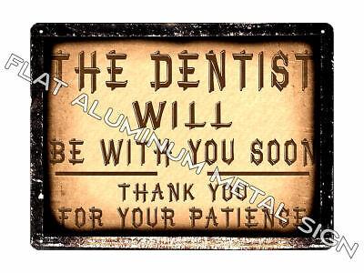 Dentist Waiting Room Door Sign Vintage Style Office Wall Decor Plaque 943 Ebay