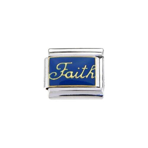 fits 9mm classic Italian charm bracelets Faith Italian charm