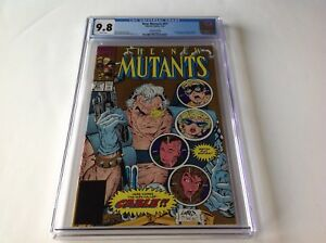 NEW-MUTANTS-87-CGC-9-8-WHITE-PAGES-2ND-SECOND-PRINT-1ST-APP-CABLE-MARVEL-COMICS