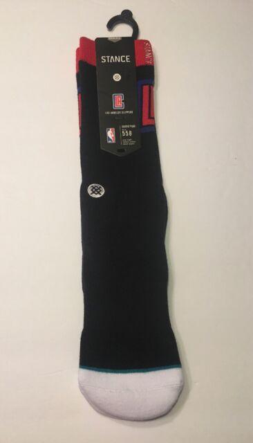 New Stance CLIPPERS ARENA LOGO Black Athletic Socks Men/'s Sz M 6-8.5