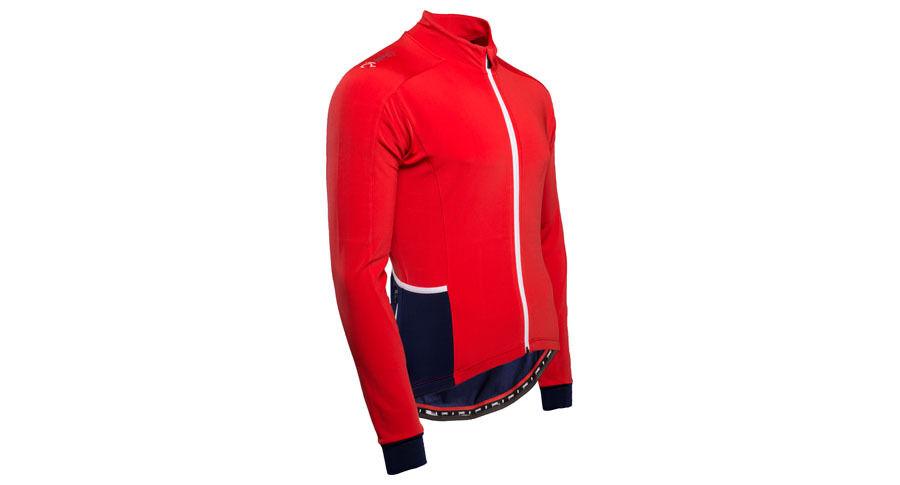 Rivelo felcott in da uomo a maniche lunghe in felcott jersey colore: Rosso/Blu Marino, prezzo consigliato 331cd3