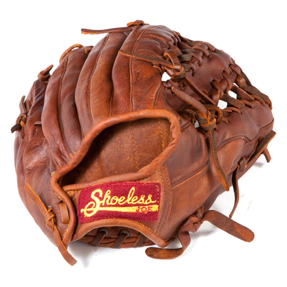 zapatosless Joe seis dedo 11.5  Guante de béisbol (nuevo)