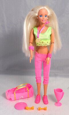 Mattel Ginnastica Ginnasta Barbie Bionda Con Medillie, Molto Movibile, Piatta Piedi-mostra Il Titolo Originale Adottare La Tecnologia Avanzata