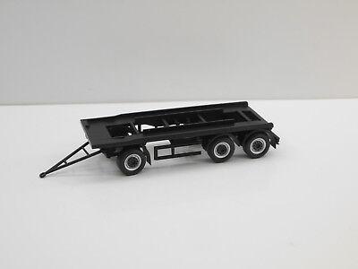 1:87 EM3407 3achs Abrollmulden Anhänger schwarz Umbau Eigenbau auf Herpa Basis