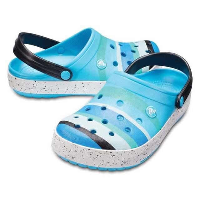 64f10d8097aa Crocs Crocband Colour-burst Clogs - Ocean 9 UK for sale online