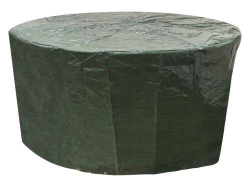 Doyens vert moyen Rond Patio Set Cover 120g//M2 PE 1.86 M X 1m//6.1ft x 3.2 FT environ 0.98 m