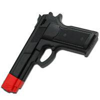 Black Rubber Training Gun Police Dummy Non Firing Real Replica 7 Inches