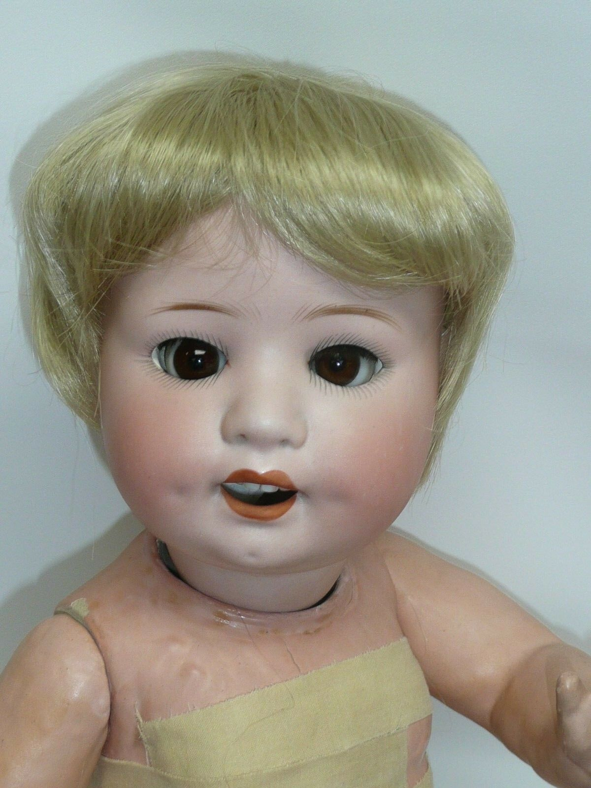 18  Heubach Koppelsdorf 300-4 German Bisque Baby, Perfect Head, As Found