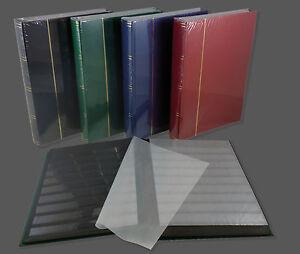 Briefmarkenalbum-Einsteckbuch-Album-60-Seiten-schwarz-in-4-Farben-5-ER-PACK