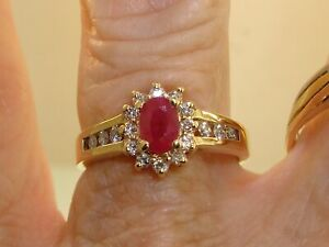 BEAUTIFUL-10K-SOLID-GOLD-APPROX-2-3-CTW-RUBY-amp-DIAMOND-RING-SZ-6-3-4