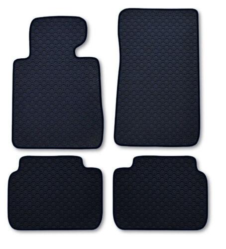 Octagon Gummi-Fußmatten schwarz Ledereinfassung schwarz BMW 7er E66 lang ab 06