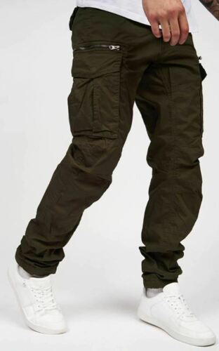 Homme Crosshatch Cargos Pantalon Combat Pantalon Décontracté en Coton Poches Cargo Jeans