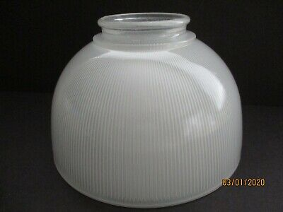 Vintage 1981 Lancaster Industrial Holophone Style Prismatic Glass Shade