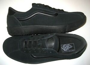 Vans Mens Wally 3 Staple All Black Suede Skate Casual shoes Size 10 ... 05e2c59dc