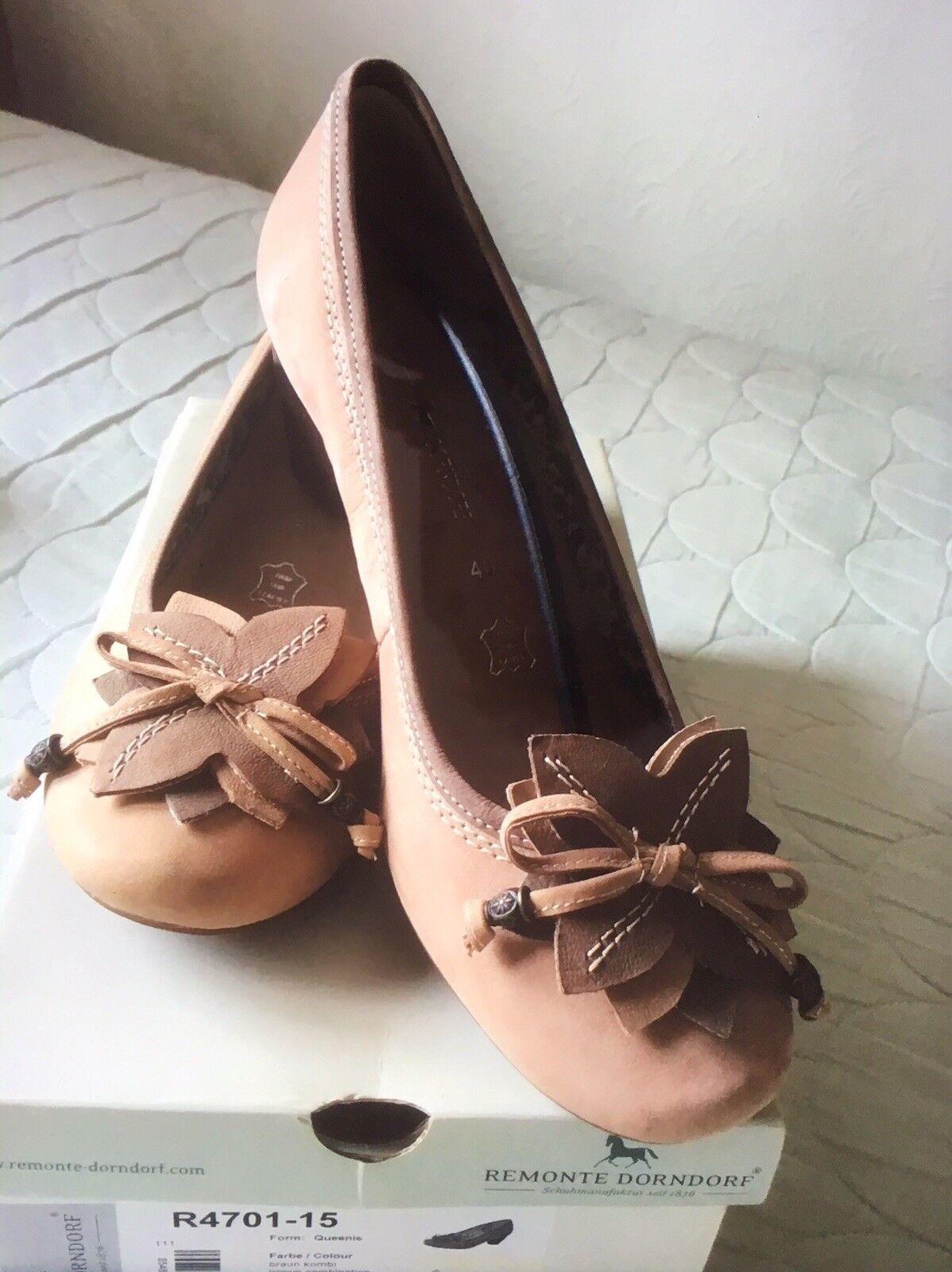 New Remonte Dorndorf Suede Court schuhe Mushroom Rosa With Embellishments Embellishments Embellishments 7 0d38fe