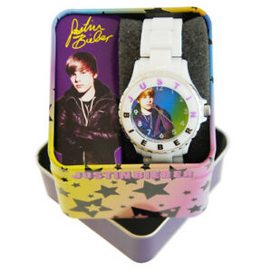 Justin-Bieber-White-Rubber-Strap-Watch