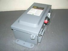 Square D Disconnect Type 3r512 Hu361awkei 30amp 600volt 3p Non Fusible Refurb