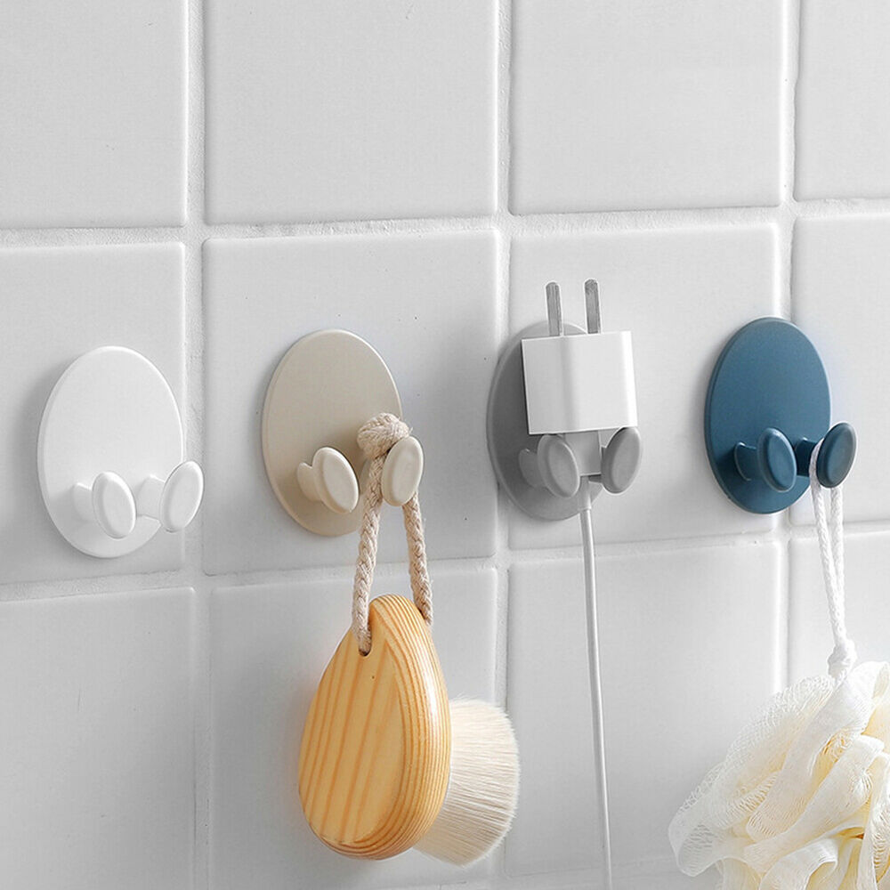 Wall Hook Holder Hooks Storage Rack Finishing Plug Holder Hangers Plastic NEW
