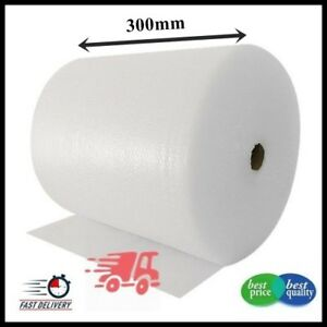 1 ROLL SMALL BUBBLE WRAP ROLL 300mm WIDE x 100 METRES LONG PACKAGING CUSHIONING 3302942125078