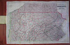 RARE - Colton Pocket Map PA Township Pennsylvania & Southern Counties NY 1876