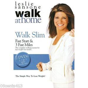Leslie-Sansone-Walk-at-Home-Walk-Slim-2-Disc-DVD-Fast-Start-amp-3-Fast-Miles