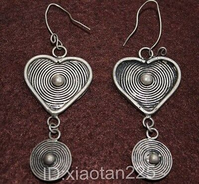 Aspiring Beautiful Handmade Miao Silver Earrings W1008 Utmost In Convenience Other Chinese Antiques Asian Antiques