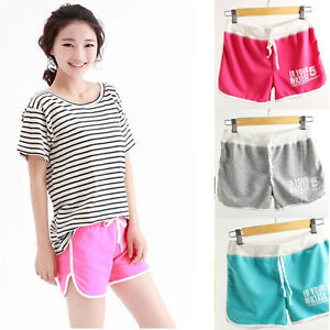 HOT-Women-039-s-Sexy-Cotton-Sports-Shorts-Casual-Beach-Running-Slim-Mini-Hot-Pants