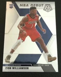 2019-20-Panini-Mosaic-269-Zion-Williamson-RC-Rookie-Card-Pelicans-Sharp