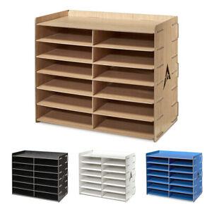 AdirOffice-12-Compartment-Wooden-Organizer-Paper-File-Storage-4-Colors
