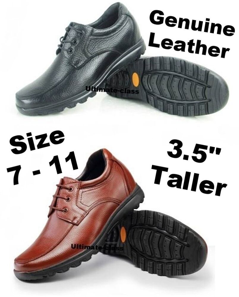 """3.5"""" Hommes Détente Élévateur Hauteur Augmente Chaussures Habillées Taille 7 8"""