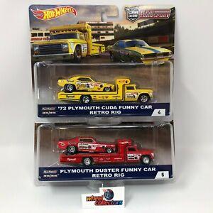 2-Car-Set-Snake-amp-Mongoose-Hot-Wheels-Team-Transport-JB50